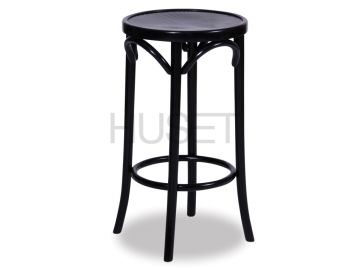 Black 68cm Paris Bentwood Thonet Counter Stool by Fameg image