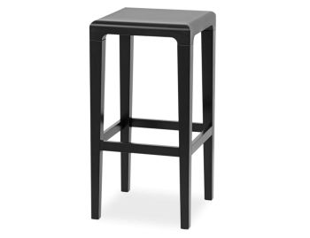 Black Rioja 65cm Kitchen Stool by Lounge Design Group for TON image