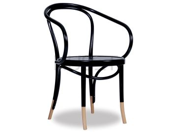 B9 Cava Black w Natural Socks Le Corbusier Bentwood Armchair by Fameg  image