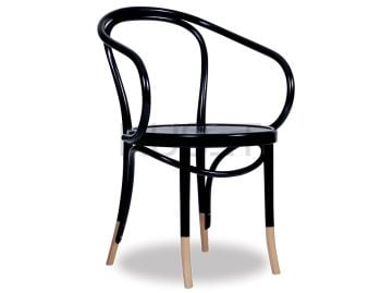 B9 Cava Black w Natural Socks Bentwood Armchair by Le Corbusier  image