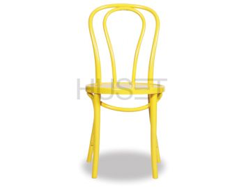 Yellow Vienna 18 Bentwood Chair by Micheal Thonet image