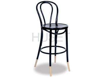 Black w Natural Socks Vienna Bentwood Bar Stool by Micheal Thonet image