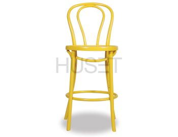 Yellow Vienna Bentwood Bar Stool by Micheal Thonet image
