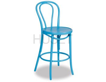 Aqua Bentwood Bar Stool by Micheal Thonet image