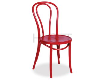 Red Vienna 18 Bentwood Chair by Micheal Thonet image