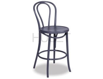 Charcoal Vienna Bentwood Bar Stool by Micheal Thonet image