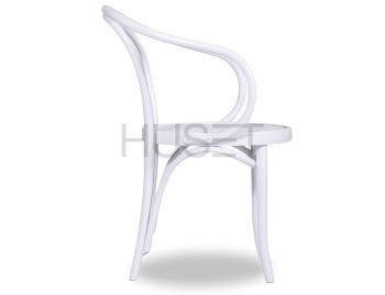 B9 Cava White Bentwood Armchair by Le Corbusier and Thonet image
