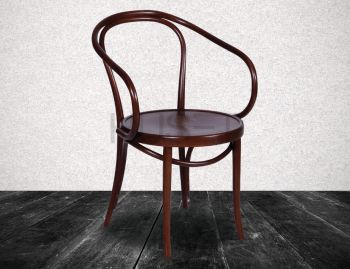 B9 Cava Walnut Bentwood Armchair by Le Corbusier and Thonet image
