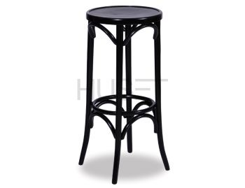 Black 80cm Paris Bentwood Thonet Bar Stool by Fameg image