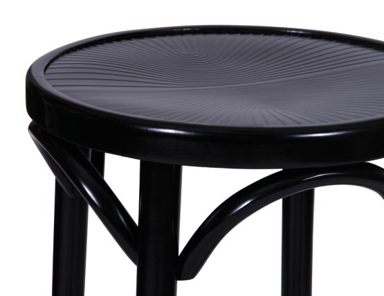 Black Bentwood Bar Stool