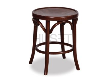 Walnut 46cm Paris Bentwood Low Stool by Micheal Thonet image