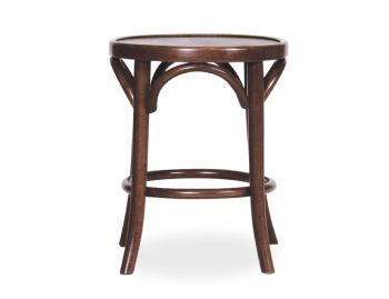Walnut 46cm Paris Bentwood Thonet Low Stool by Fameg image