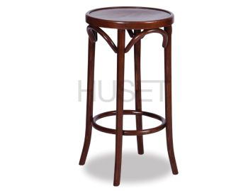 Walnut 68cm Paris Bentwood Thonet Counter Stool by Fameg image