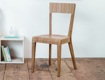 Natural Oak Era Dining Chair by Rene Sulc for Ton image