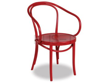 Red B9 Cava Bentwood Armchair by Le Corbusier and Thonet image