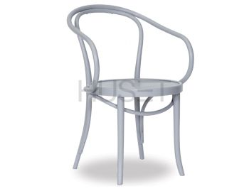 Light Grey B9 Cava Bentwood Armchair by Le Corbusier and Thonet image