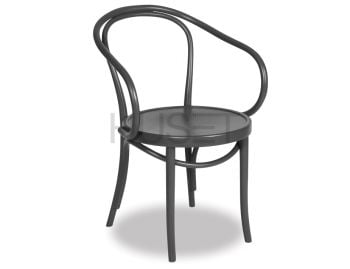 B9 Cava Charcoal Bentwood Armchair by Le Corbusier and Thonet image