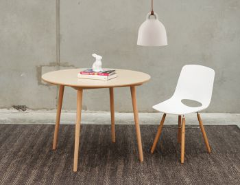 Natural Ironica 100cm Round Kitchen Table by Tom Kelley for TON image